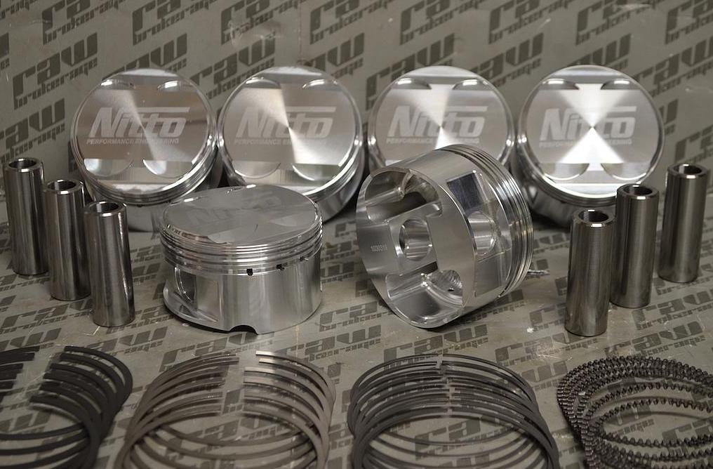 Nitto Forged Pistons for Nissan RB26 - 86.5mm (+.020
