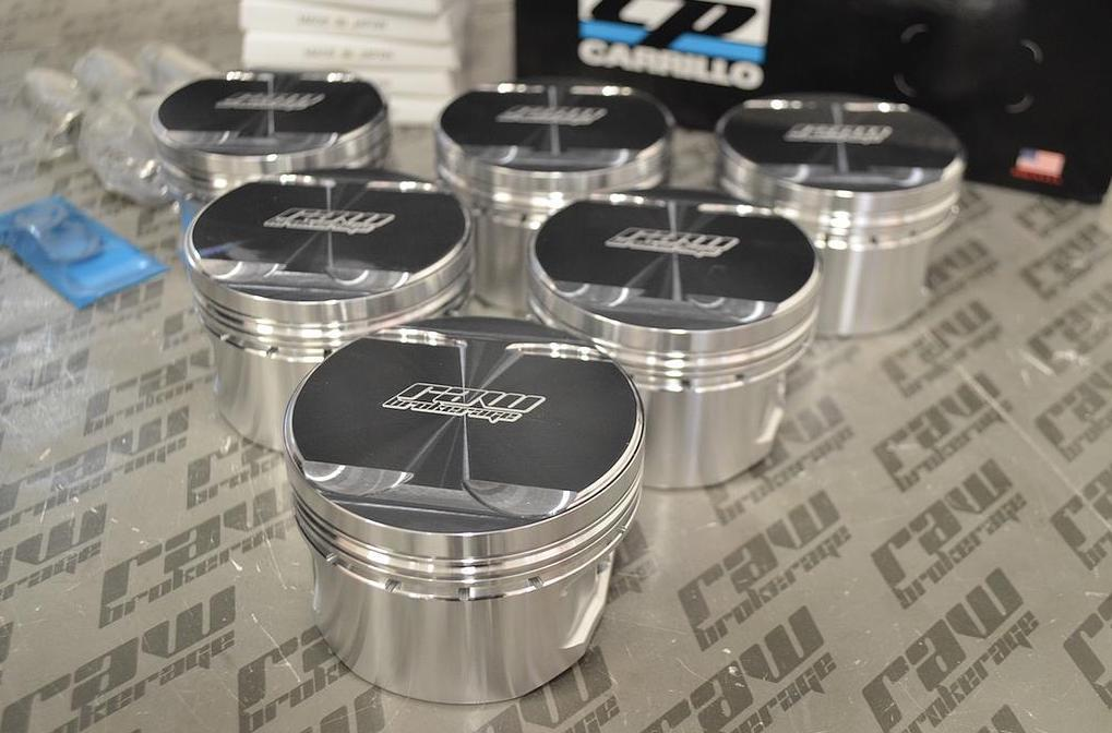 Raw Brokerage Spec CP Forged Pistons RB20DET (80.0mm) 8.5:1 CR