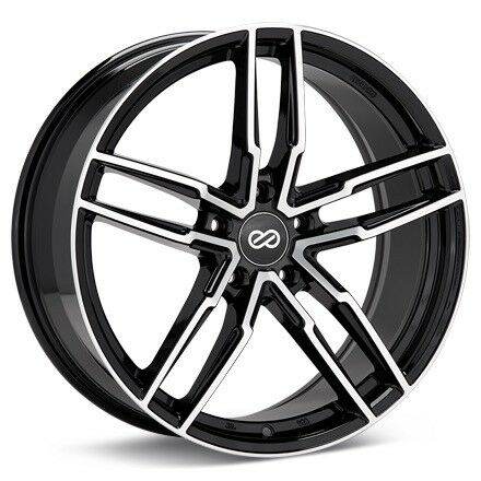 Enkei SS05 18x8 40mm Offset 5x108 72.6mm Bore Black Machined Wheel