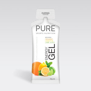 PURE ENERGY GEL 35G ORANGE LEMON LIME