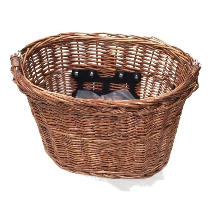 FRONT BASKET WICKER Q/R WITH HANDLE