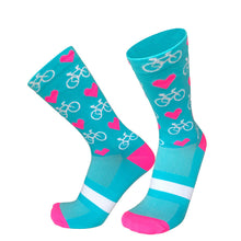 Load image into Gallery viewer, PRO CYCLING SOCKS HEARTS