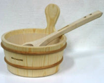 Wooden Sauna Bucket w/Liner - Better Health Saunas
