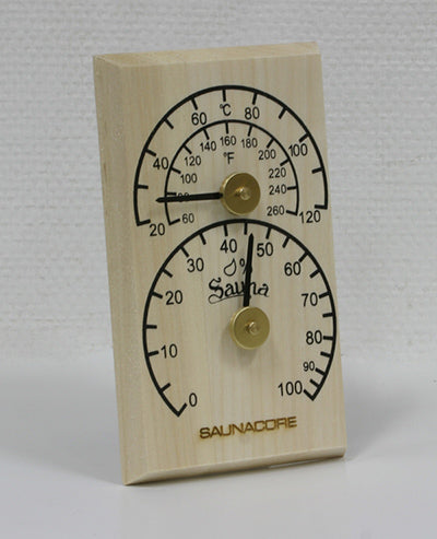 Wooden Therm/Hygro Meter - Better Health Saunas
