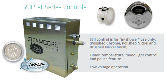 STEAMCORE™ Spa II - SS Series Control - Better Health Saunas