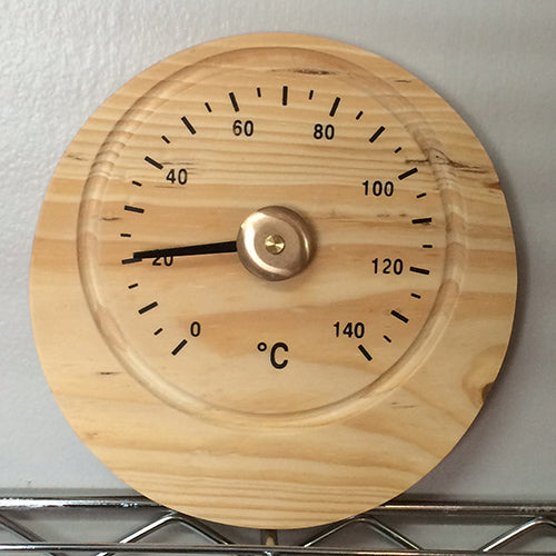 Wooden Square/Round Thermometer - Better Health Saunas