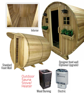 Country Living Barrel Sauna - Better Health Saunas