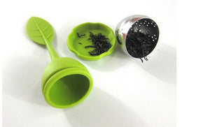 Steel ball infuser with leaf design