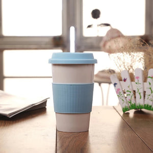 Porcelain Tea or Coffee Mug with Silicone Sleeve