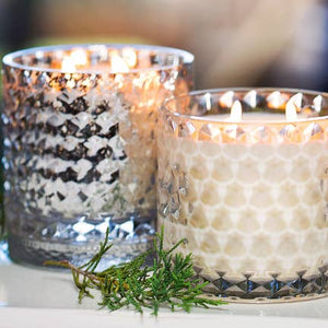 Sparkle Holiday Iridescent Glass Candle
