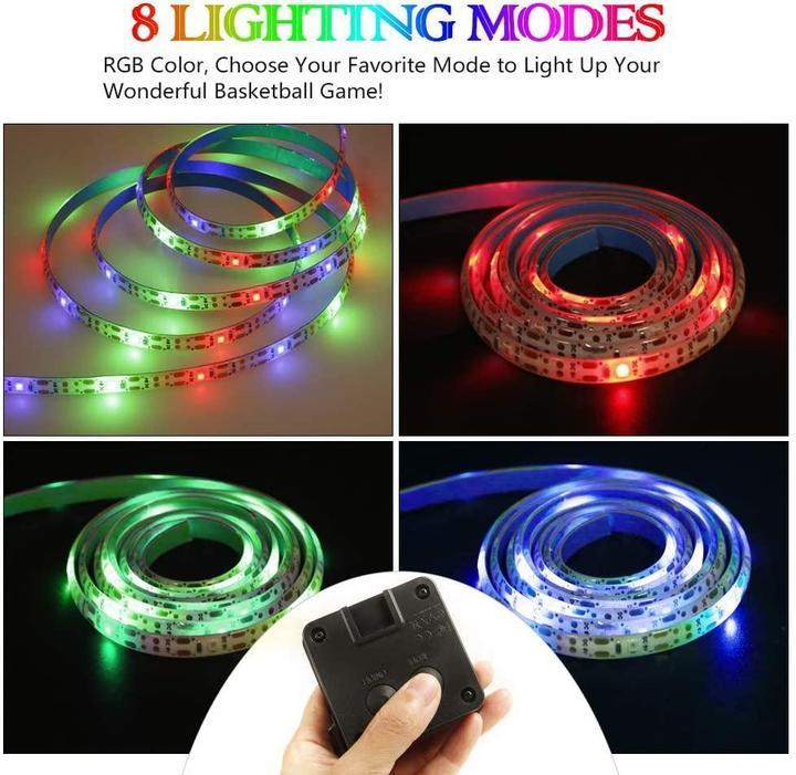 Basketball Hoop -Activated LED Strip Light-8 Flash Modes