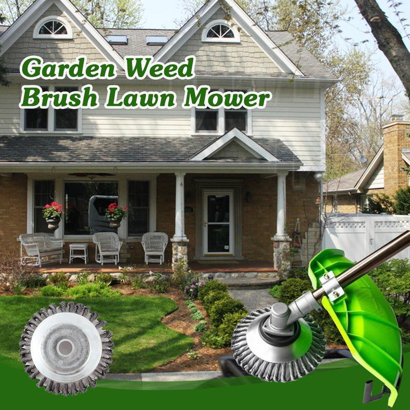 Domom Garden Weed Brush Lawn Mower