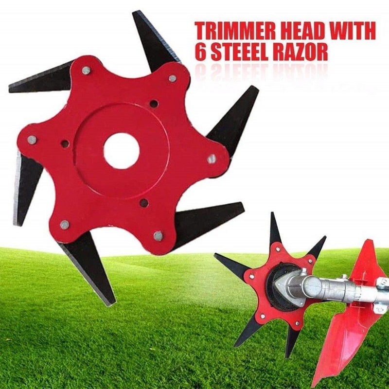 Universal 6-blade Trimmer Head for Lawn Mowers