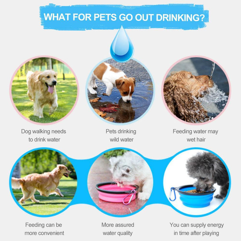 Magoloft™ 2-in-1 Pet Travel Water & Food Bottle with Foldable Bowl