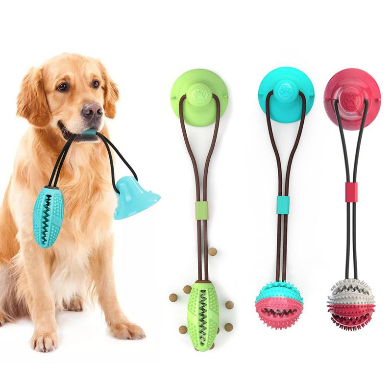 Dog Bite Toy Interactive food leaker toy with Suction Cup