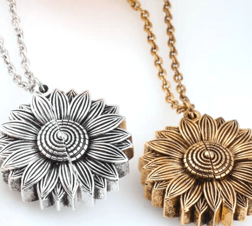 Sunflower Necklace - You Are My Sunshine