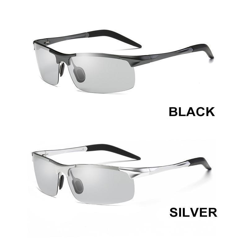 Intelligent photochromic polarized sunglasses 100% UV protection- Perfect for Fisherman