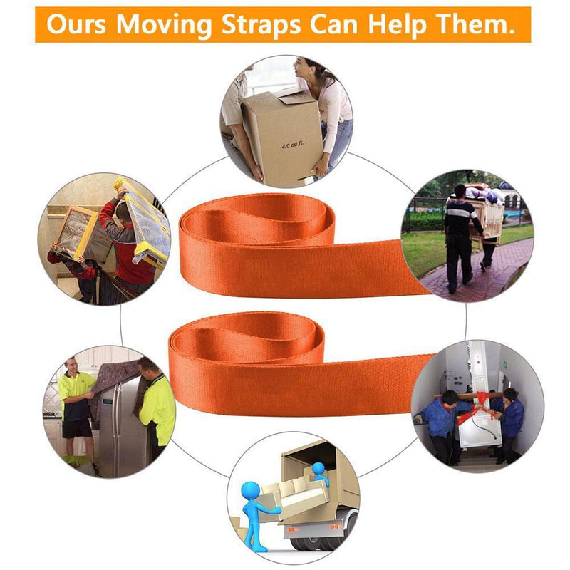 2pcs Adjustable Furniture Teamstrap Moving and Lifting Straps