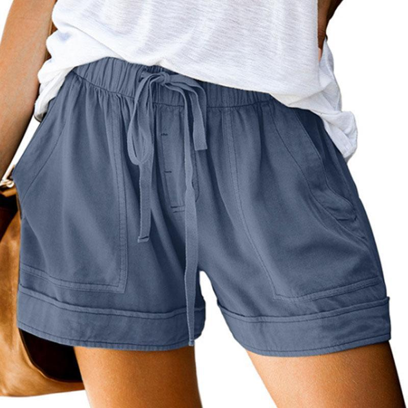 Women Casual Lace-up Loose Shorts