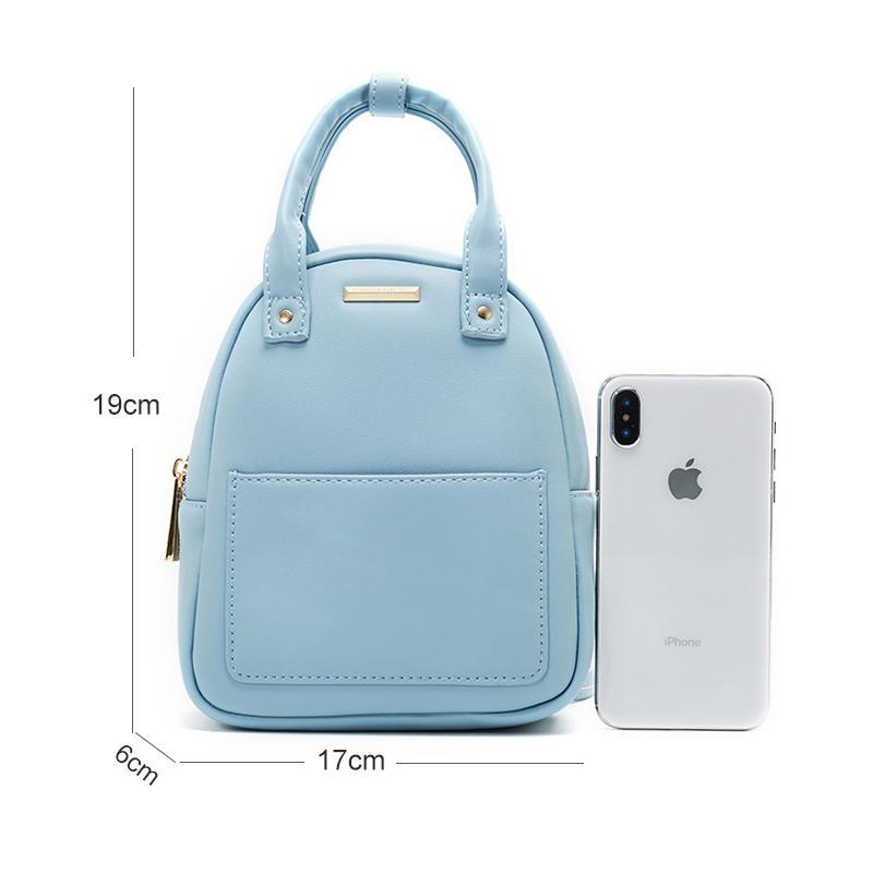 Magoloft™ PU Leather Cute Candy Color Mini Backpack