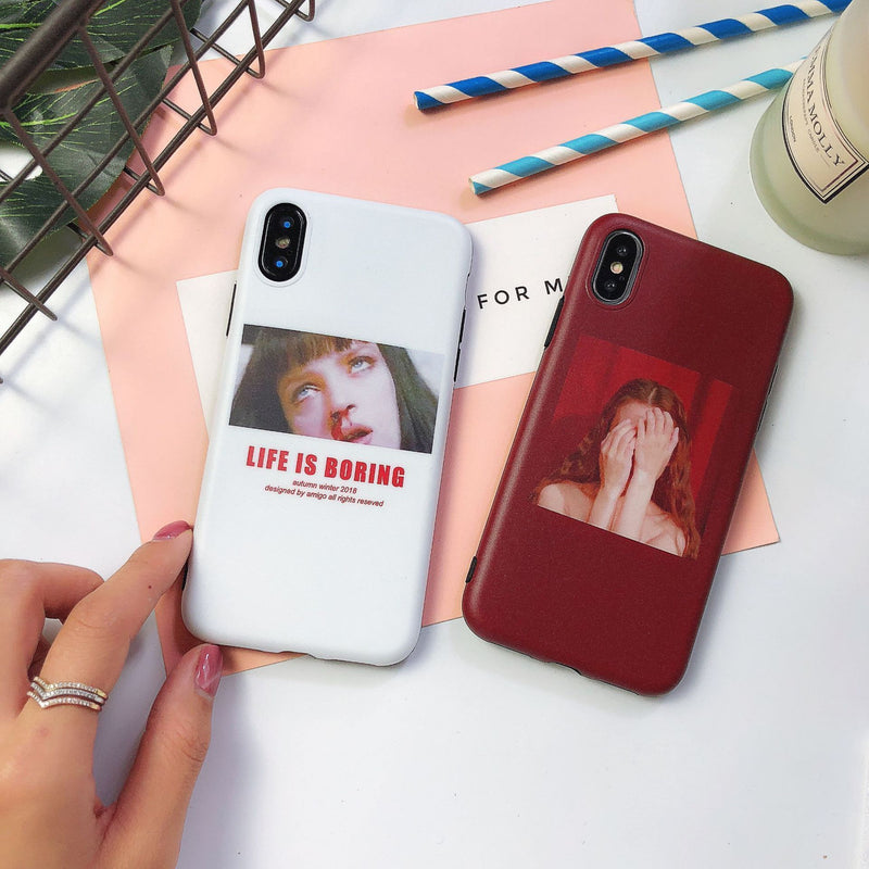 The Girl Silicone iPhone Case