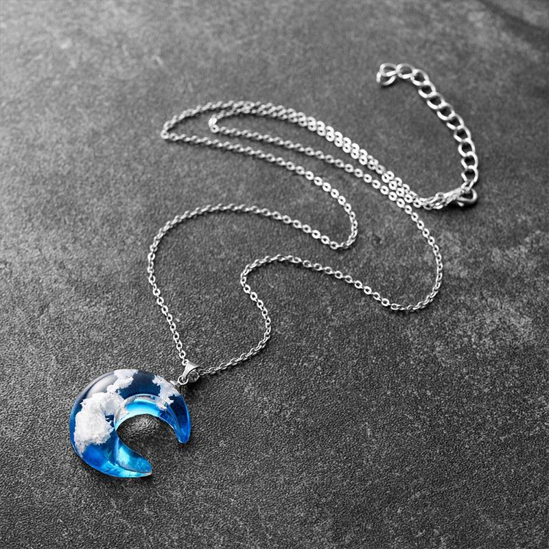 Clouds Of Heaven Resin Necklace