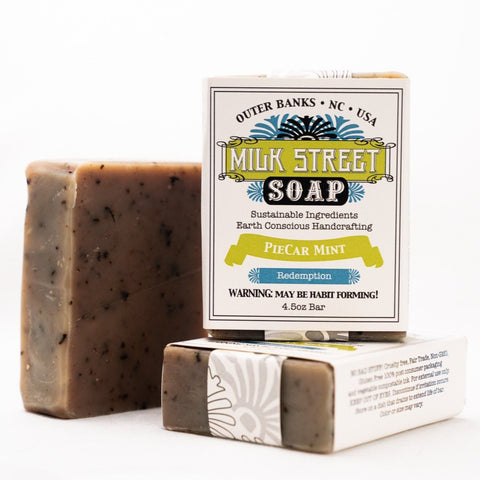 PieCar Mint Goat Milk Soap Bar