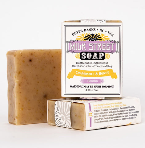 Chamomile & Honey Goat Milk Soap Bar