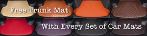 Free Trunk Mat with every set of Car Mats