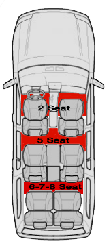 6 Seats - Add Third Row Mat