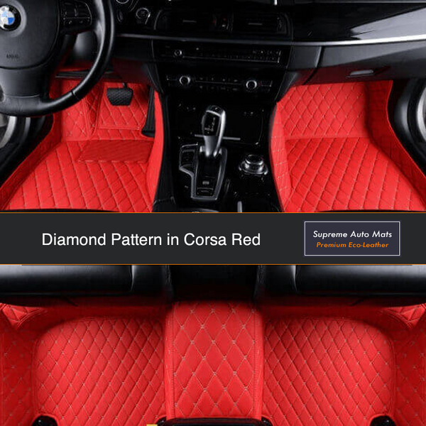 CITROEN DS5 2012 ON Tailored Carpet Car Floor BLACK MATS WITH RED EDGING