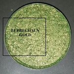 Leprechaun Green Gold Pressed Single Eyeshadow - pressed eyeshadow