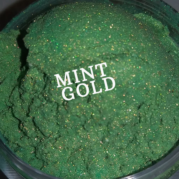 Mint Gold shimmer eyeshadow pigment