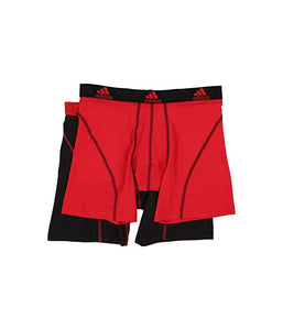 [adidas(アディダス)] メンズインナーウェア Sport Performance ClimaLite 2-Pack Boxer Brief Real Red/Black/Black/Real Red