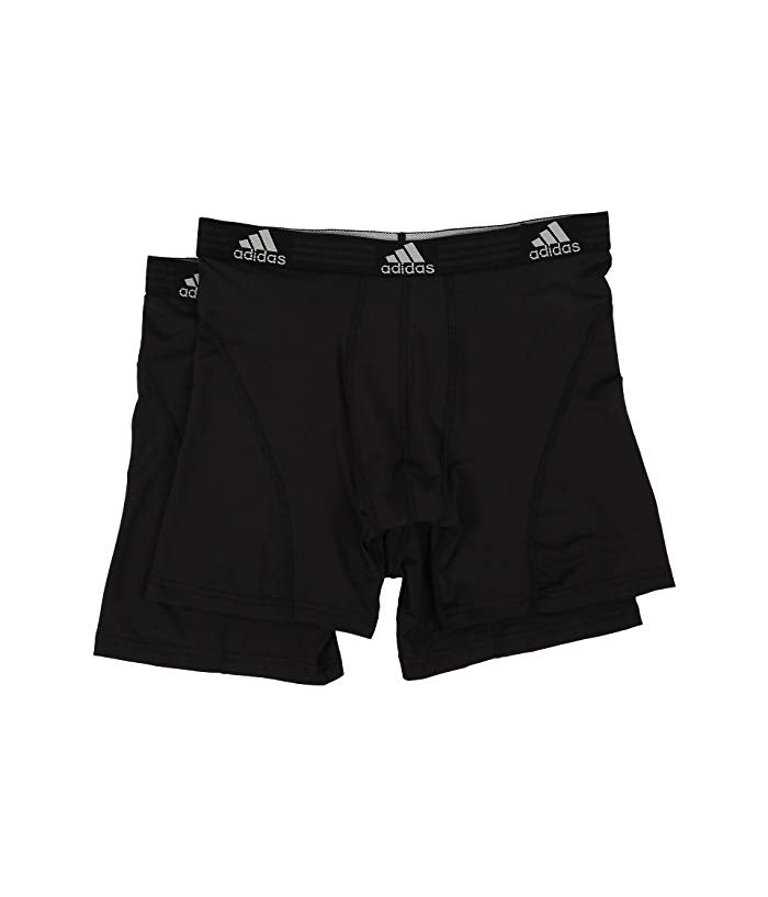 [adidas(アディダス)] メンズインナーウェア Sport Performance ClimaLite 2-Pack Boxer Brief Black/Black/Black/Black