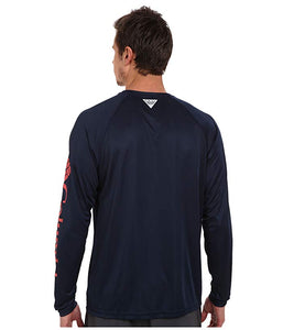 [Columbia(コロンビア)] シャツ・ワイシャツ等 Terminal Tackle L/S Shirt Collegiate Navy/Sunset Red Logo