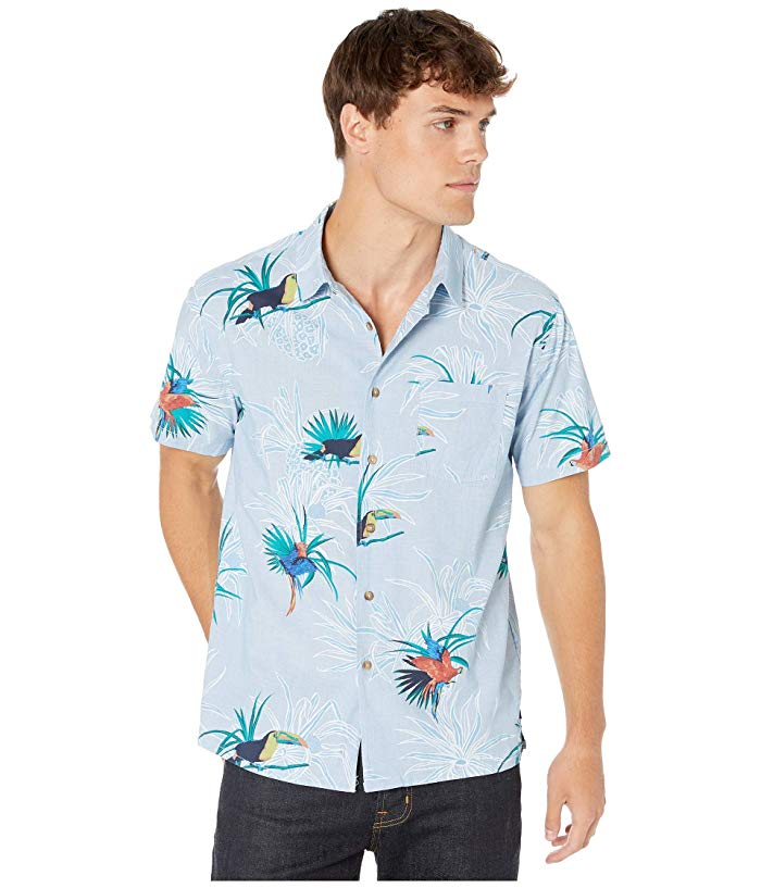 [BILLABONG(ビラボン)] シャツ・ワイシャツ等 Sundays Floral Short Sleeve Woven Light Blue (S)