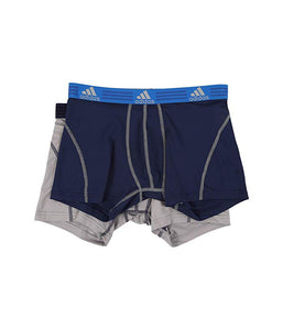 [adidas(アディダス)] メンズインナーウェア Sport Performance ClimaLite 2-Pack Trunk Night Indigo/Light Onix/Light Onix/Night Indigo