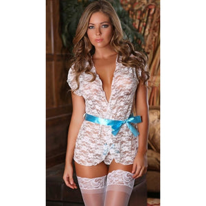 Sexy White Lovely Lace Babydoll