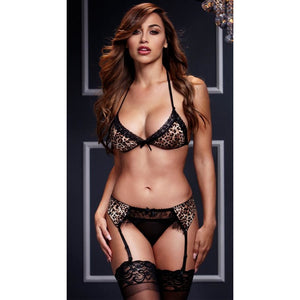 Sexy Luxury 2 Piece Leopard Bra Set