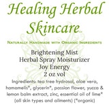 Brightening Mist Herbal Skincare Spray Moisturizer
