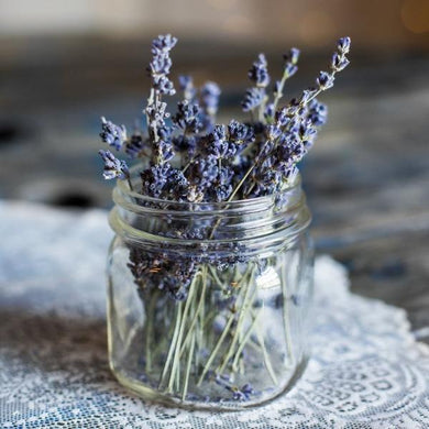 Lavender in a Jar Photo by Heather Schwartz at Healing Herbal Skincare