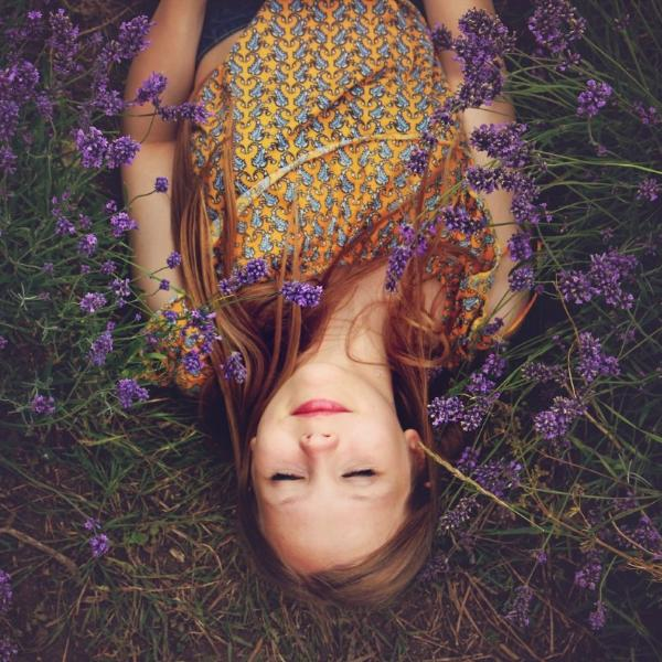 Relaxing in Lavender Photo by Amy Treasure at Healing Herbal Skincare