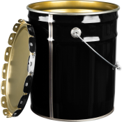 Black Steel Pail