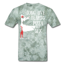 Long Live Beards, Pizza, and Sex T-Shirt - BeardedMoney