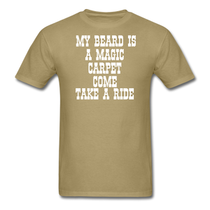 My Beard Is A Magic Carpet T-Shirt - bearded-money