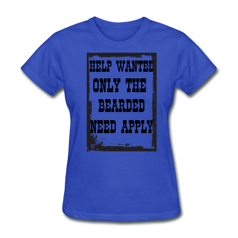 Help Wanted Only The Bearded T-Shirt - bearded-money
