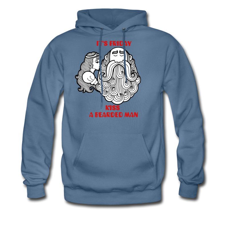 It's Friday Kiss A Bearded Man Hoodie - bearded-money