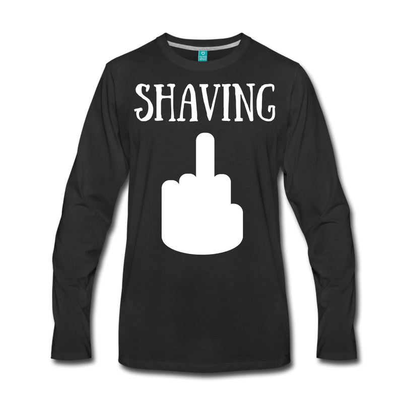 Shaving Long Sleeve T-Shirt - bearded-money