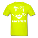 Real Cats, Have Beards T-Shirt - BeardedMoney